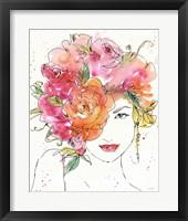Floral Figures IV Framed Print