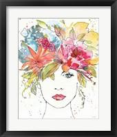 Floral Figures III Framed Print