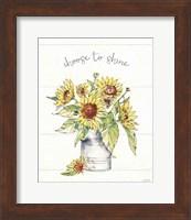 Framed Sunflower Fields I
