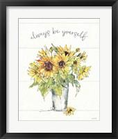 Framed Sunflower Fields II