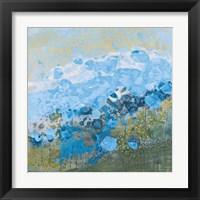 Framed Blue Puffs