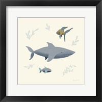 Framed Ocean Life Shark