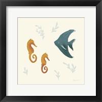 Framed Ocean Life Seahorses