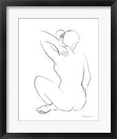 Framed Nude Sketch I