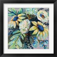 Framed Sage and Sunflowers II