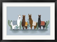 Framed Delightful Alpacas V