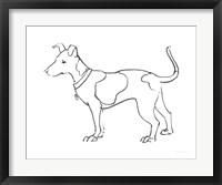 Framed Ink Dog IV
