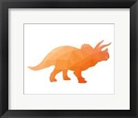 Framed Geo Dinosaur III