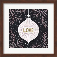Framed Jolly Holiday Ornaments Love Metallic