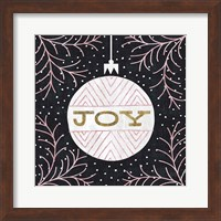 Framed Jolly Holiday Ornaments Joy Metallic