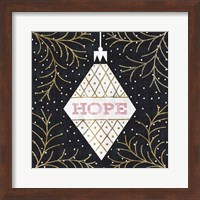 Framed Jolly Holiday Ornaments Hope Metallic