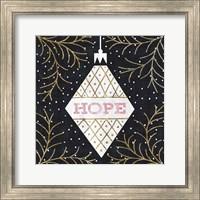 Framed Jolly Holiday Ornaments Hope Metallic