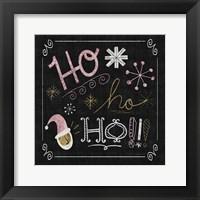Framed Quirky Christmas Santa Metallic