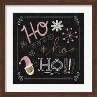 Framed Quirky Christmas Santa Metallic