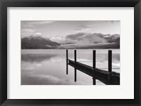 Framed Lake McDonald Dock BW