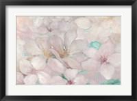 Framed Apple Blossoms Teal