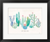 Framed Bohemian Cactus I Love