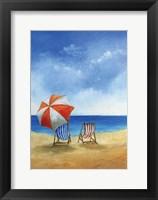 Framed Deck Chairs on Beach