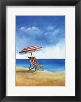 Framed Deck Chairs on Beach II