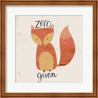Framed Zero Fox