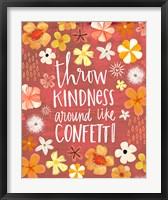 Framed Throw Kindness Like Confetti
