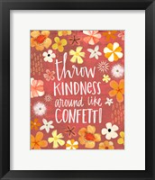 Framed Throw Kindness Like Confetti