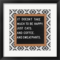 Framed Cats and Sweatpants