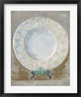 Framed Dinner Plate III