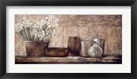 Framed Hyacinth on a Sideboard