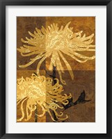 Framed Golden Mums II