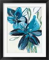 Framed Flowers of Azure II