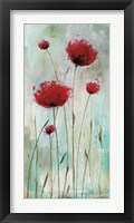 Framed Splash Poppies I