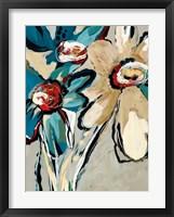Framed Blooming Blue II