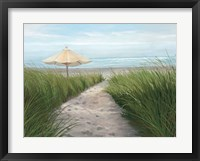 Framed Umbrella on the Beach