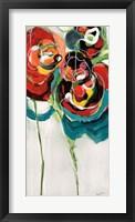Framed Wasabi Rose I