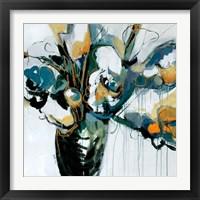 Framed Blooms in Shamrock Grey