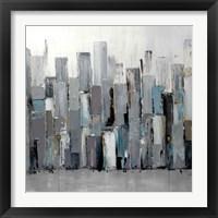 Framed Blue Plaza