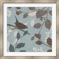 Framed Sparrow's Garden I