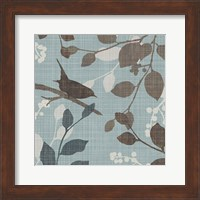 Framed Sparrow's Garden I