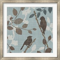 Framed Sparrow's Garden II