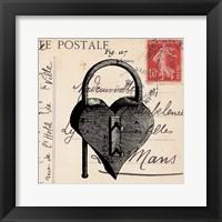 Framed Key To My Heart II