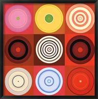 Framed Red Circles