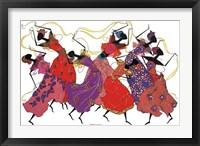 Framed Lead Dancer In Purple Gown
