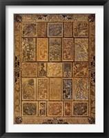 Framed Golden Tapestry