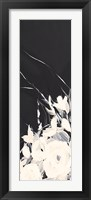 Framed Black and White Floral I