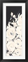Framed Black and White Floral II