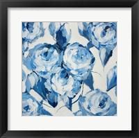 Framed Blue and White Roses