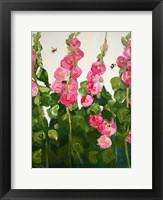 Framed Hollyhocks