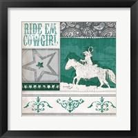 Framed Ride 'Em Cowgirl