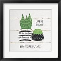Framed Life is Short, Buy More Plants